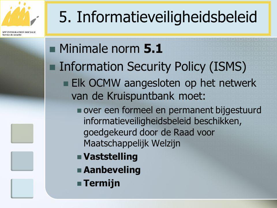 5. Informatieveiligheidsbeleid