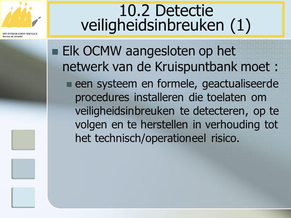 10.2 Detectie veiligheidsinbreuken (1)