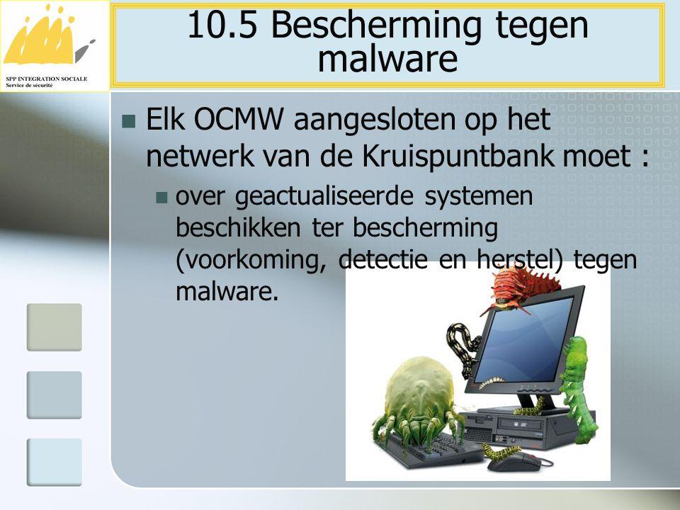 10.5 Bescherming tegen malware