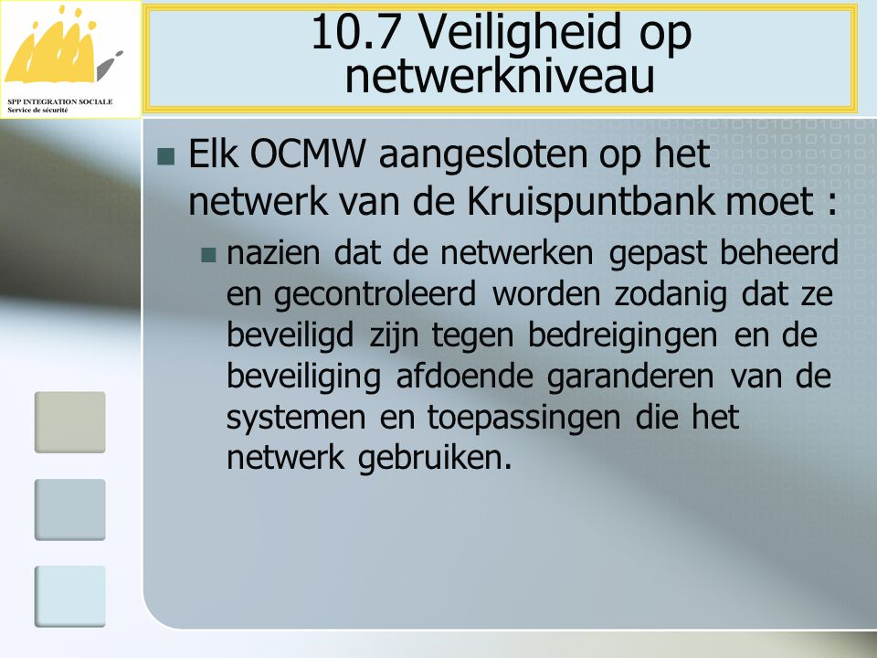 10.7 Veiligheid op netwerkniveau