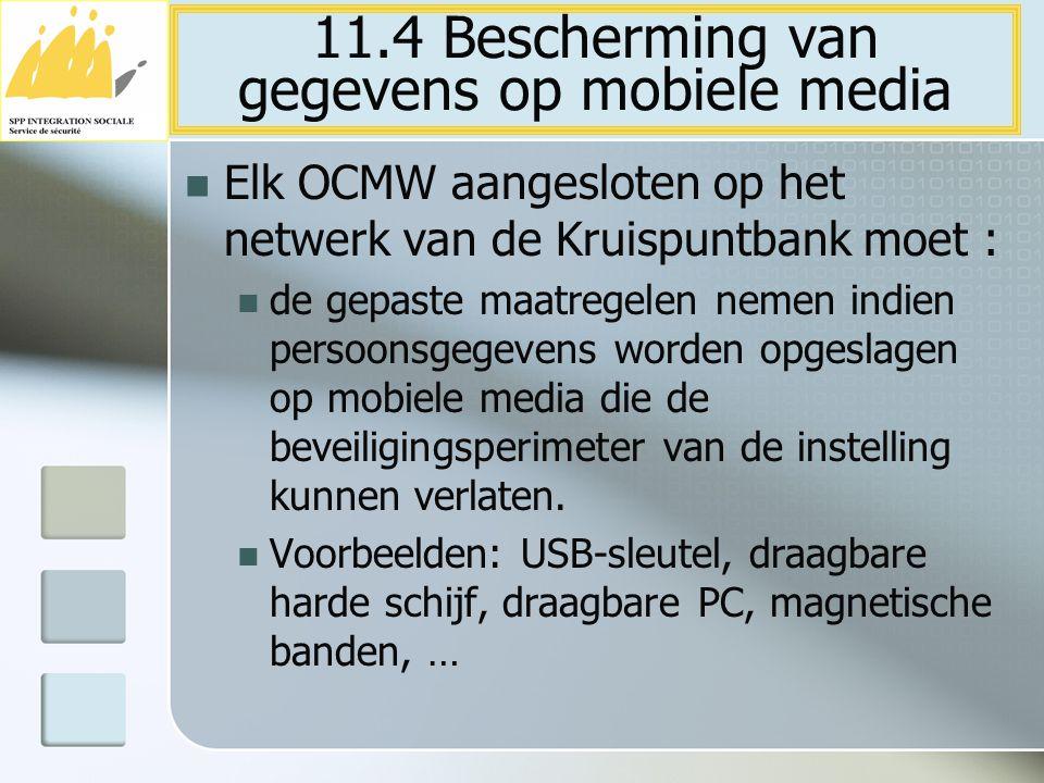 11.4 Bescherming van gegevens op mobiele media