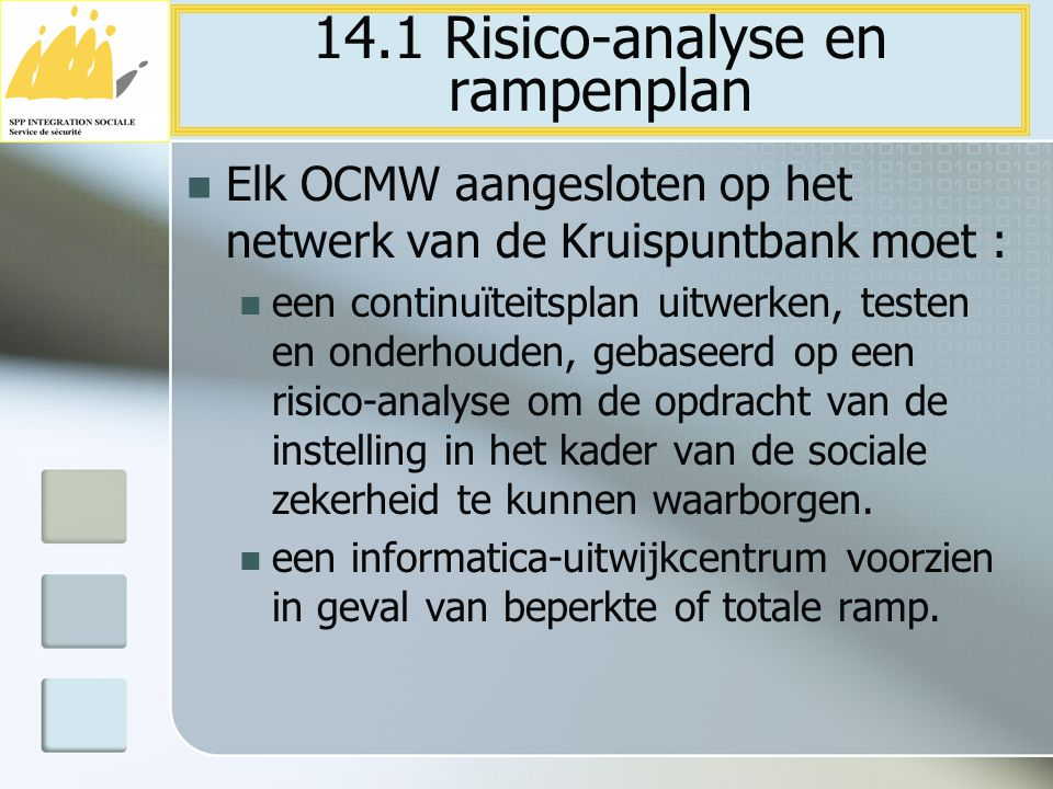 14.1 Risico-analyse en rampenplan