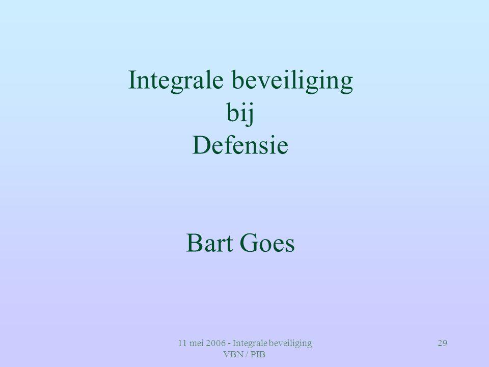 Integrale beveiliging bij Defensie Bart Goes
