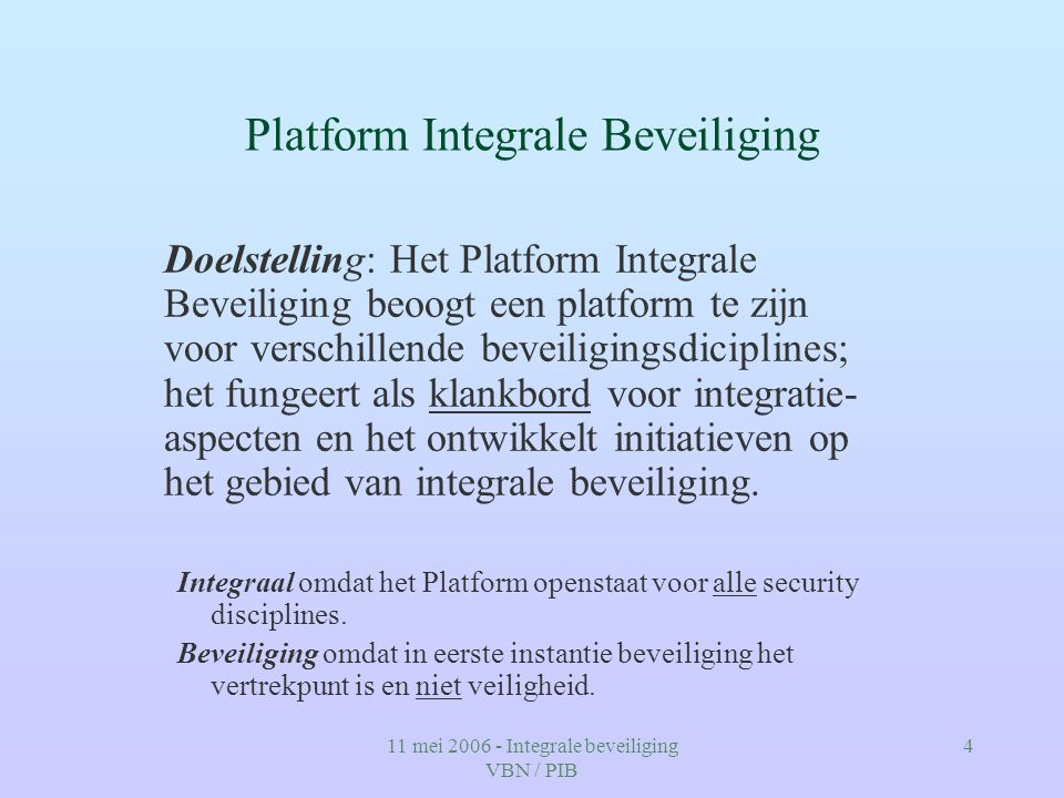 Platform Integrale Beveiliging
