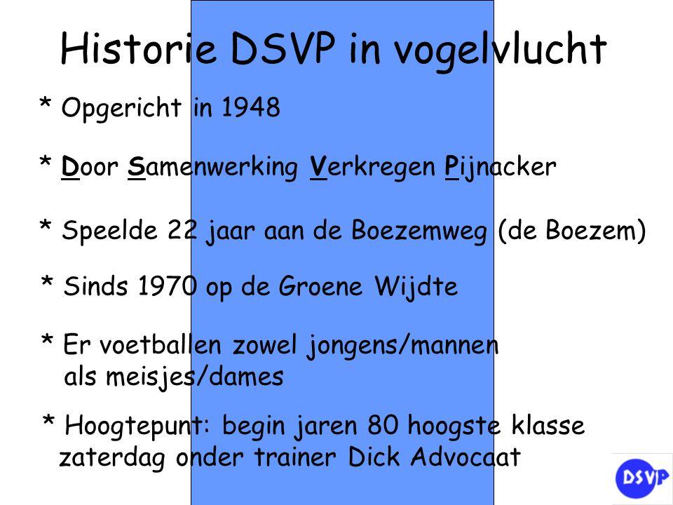 Historie DSVP in vogelvlucht