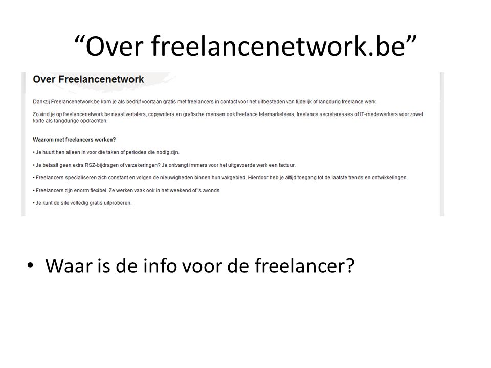 Over freelancenetwork.be