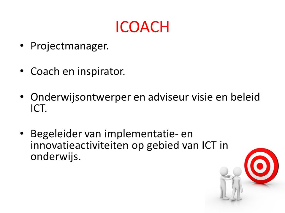 ICOACH Projectmanager. Coach en inspirator.