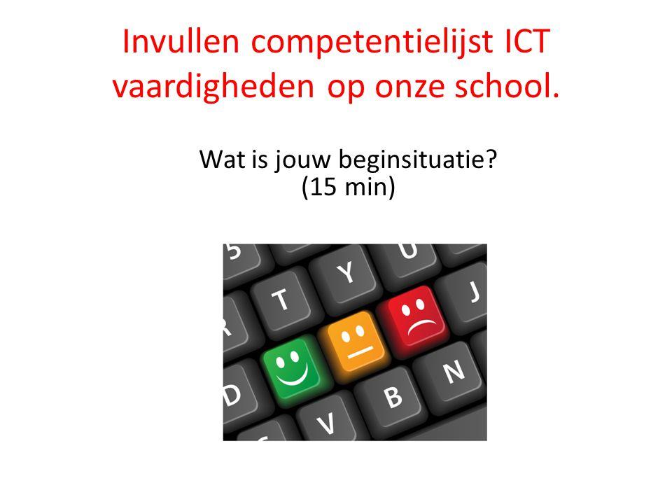 Invullen competentielijst ICT vaardigheden op onze school.