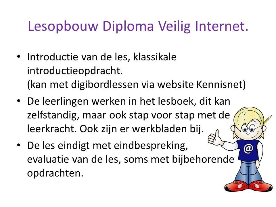 Lesopbouw Diploma Veilig Internet.