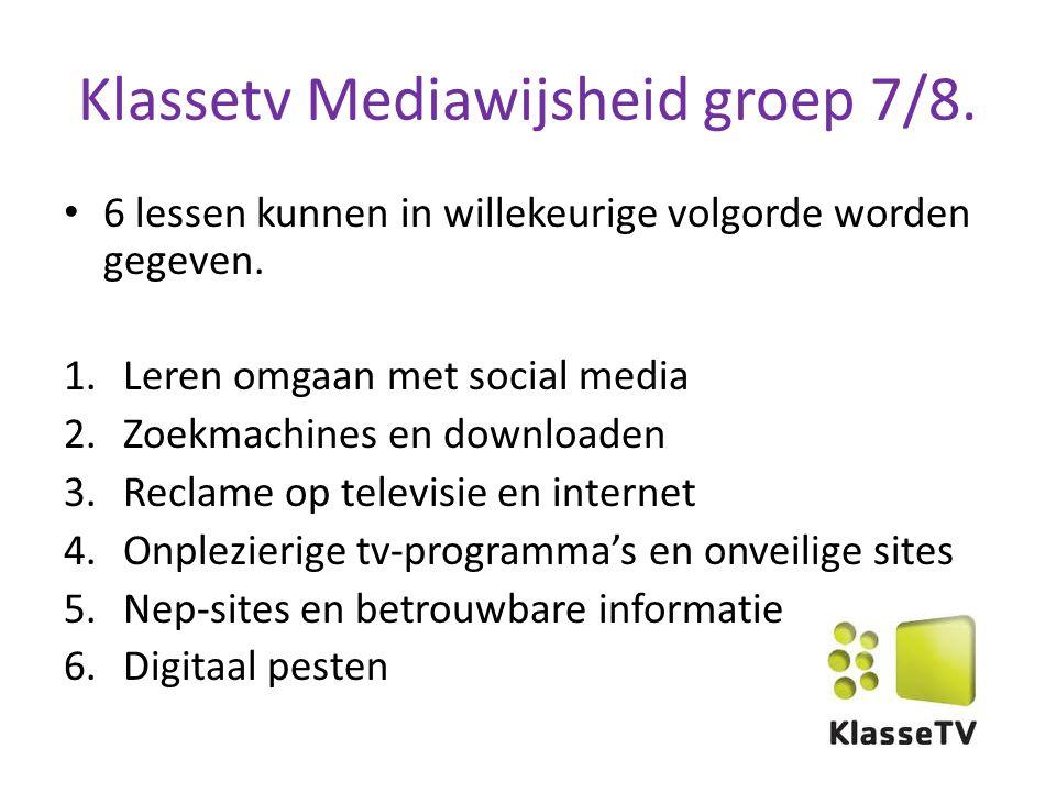 Klassetv Mediawijsheid groep 7/8.