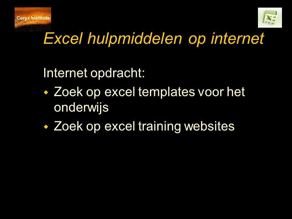 Excel hulpmiddelen op internet