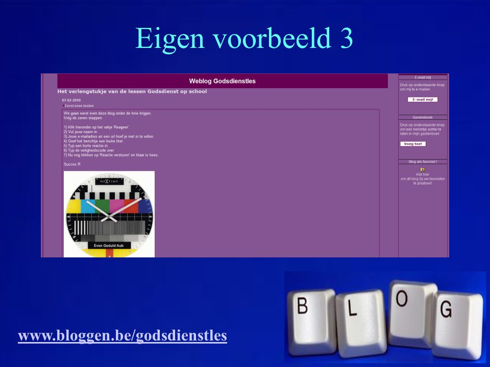 Eigen voorbeeld 3 www.bloggen.be/godsdienstles