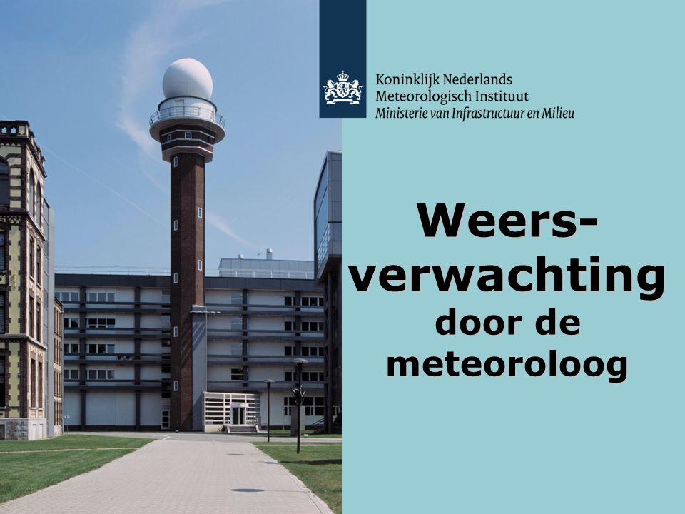 Weers-verwachting door de meteoroloog