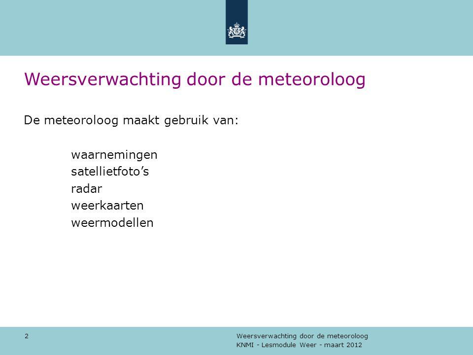 Weersverwachting door de meteoroloog