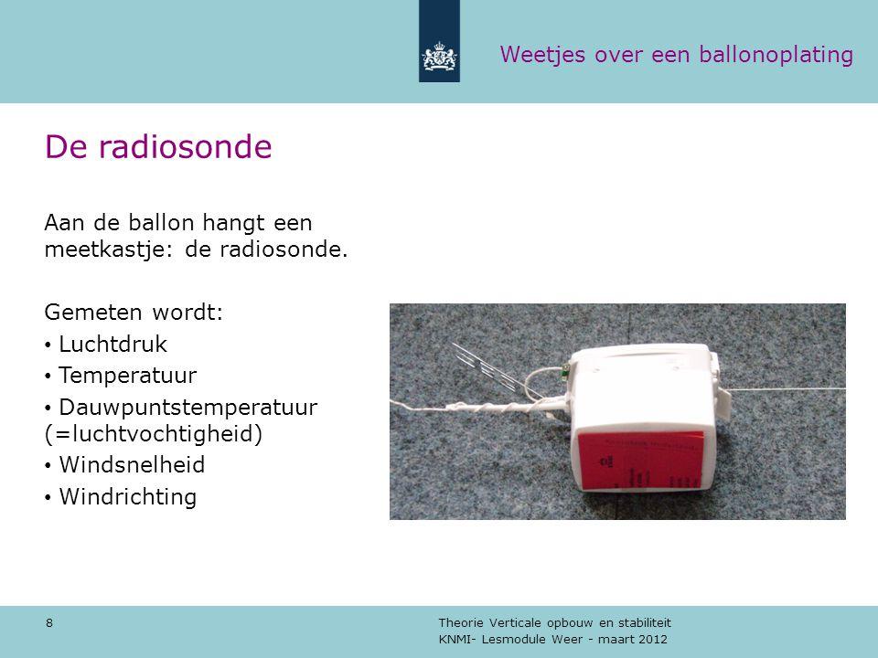 De radiosonde Weetjes over een ballonoplating