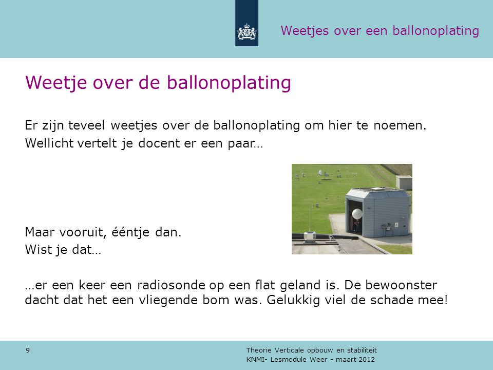 Weetje over de ballonoplating