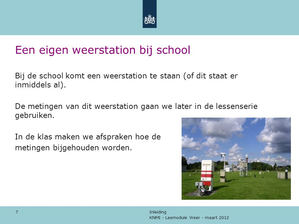 Een eigen weerstation bij school