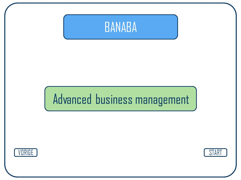 Advanced business management