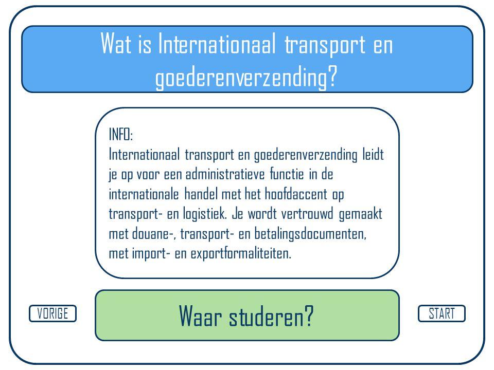 Wat is Internationaal transport en goederenverzending