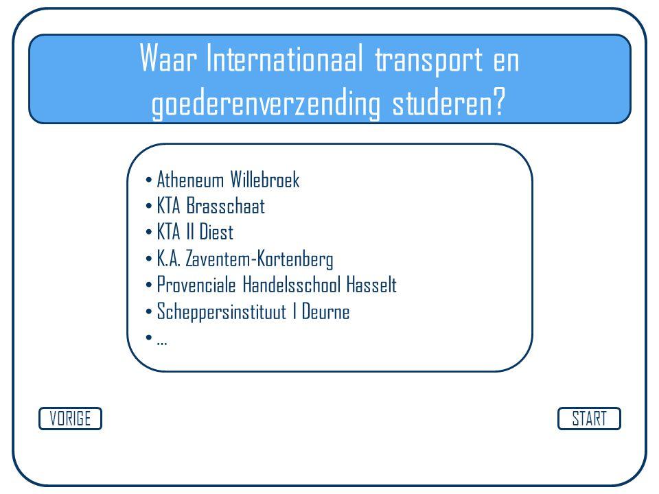 Waar Internationaal transport en goederenverzending studeren