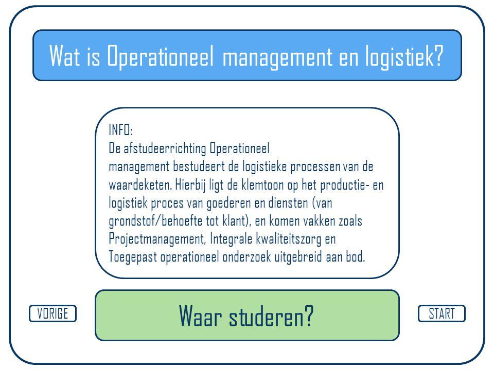 Wat is Operationeel management en logistiek