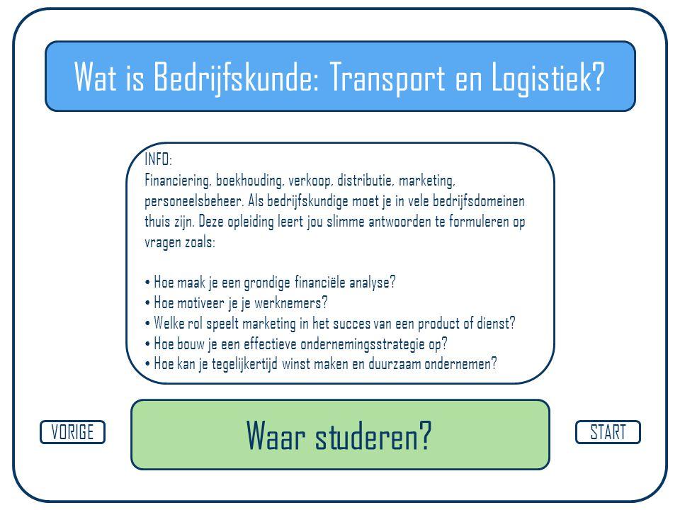 Wat is Bedrijfskunde: Transport en Logistiek