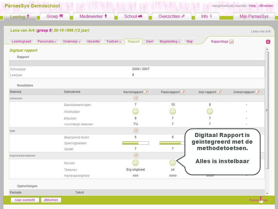 Digitaal Rapport is geïntegreerd met de methodetoetsen.