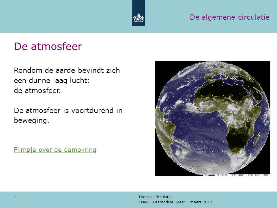 De atmosfeer De algemene circulatie Rondom de aarde bevindt zich