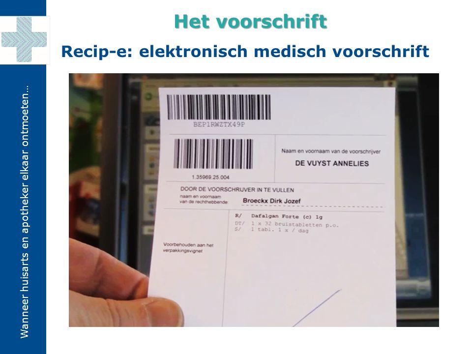 Het voorschrift Recip-e: elektronisch medisch voorschrift