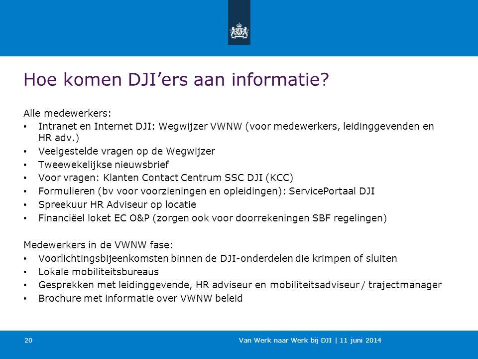 Hoe komen DJI'ers aan informatie