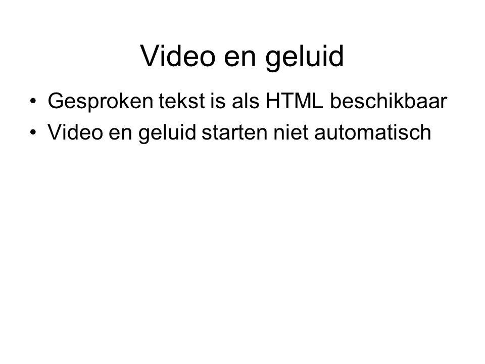 Video en geluid Gesproken tekst is als HTML beschikbaar