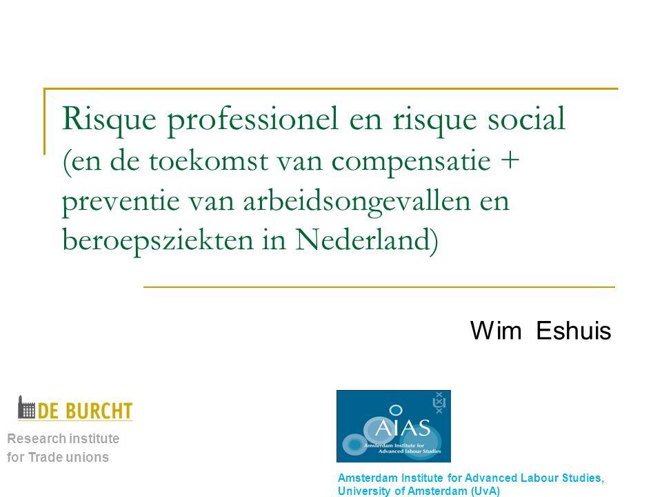 Risque professionel en risque social (en de toekomst van compensatie + preventie van arbeidsongevallen en beroepsziekten in Nederland)