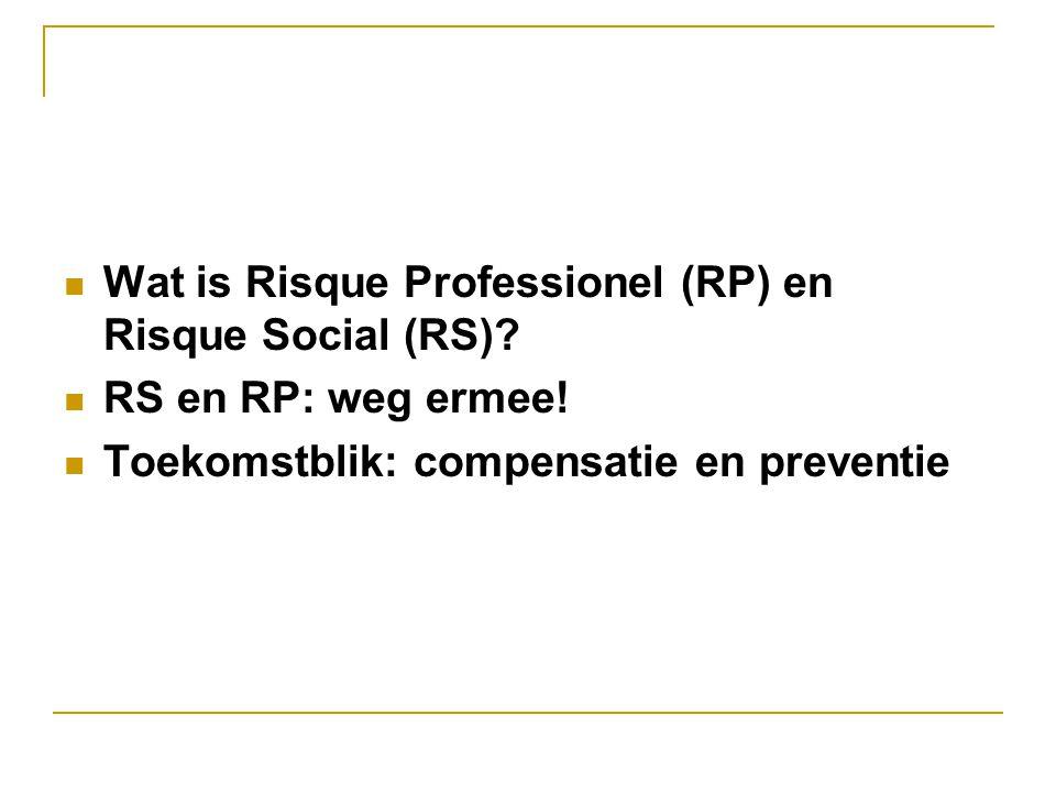 Wat is Risque Professionel (RP) en Risque Social (RS)