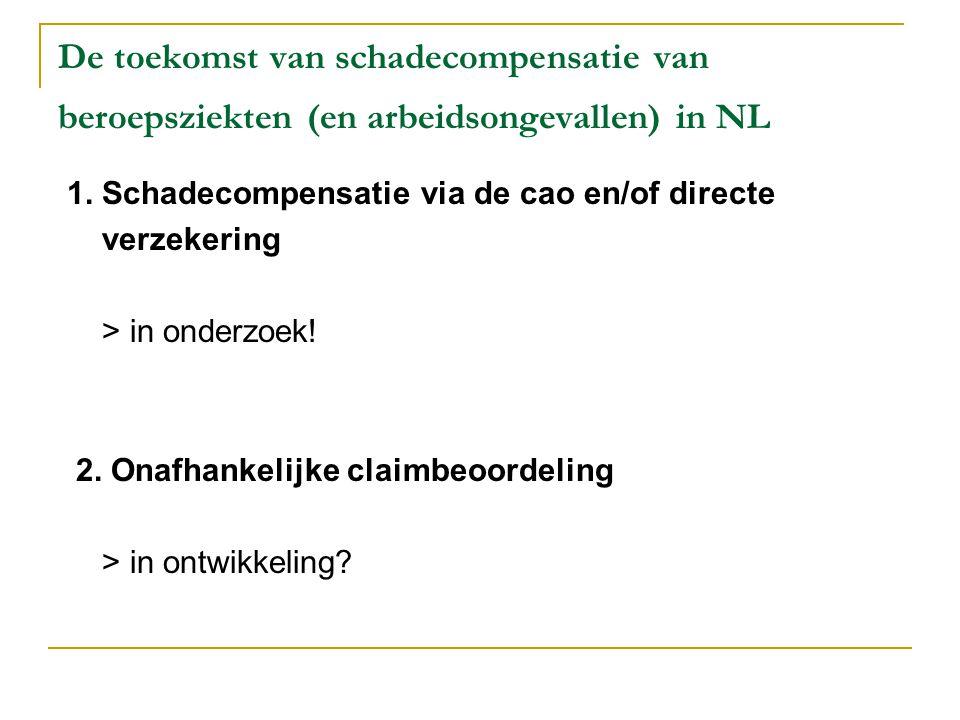 De toekomst van schadecompensatie van beroepsziekten (en arbeidsongevallen) in NL
