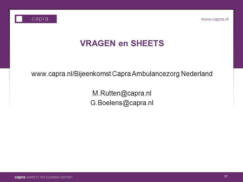 www.capra.nl/Bijeenkomst Capra Ambulancezorg Nederland