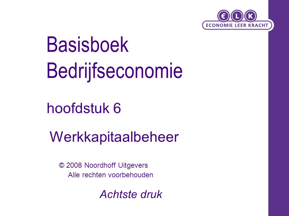 Basisboek Bedrijfseconomie