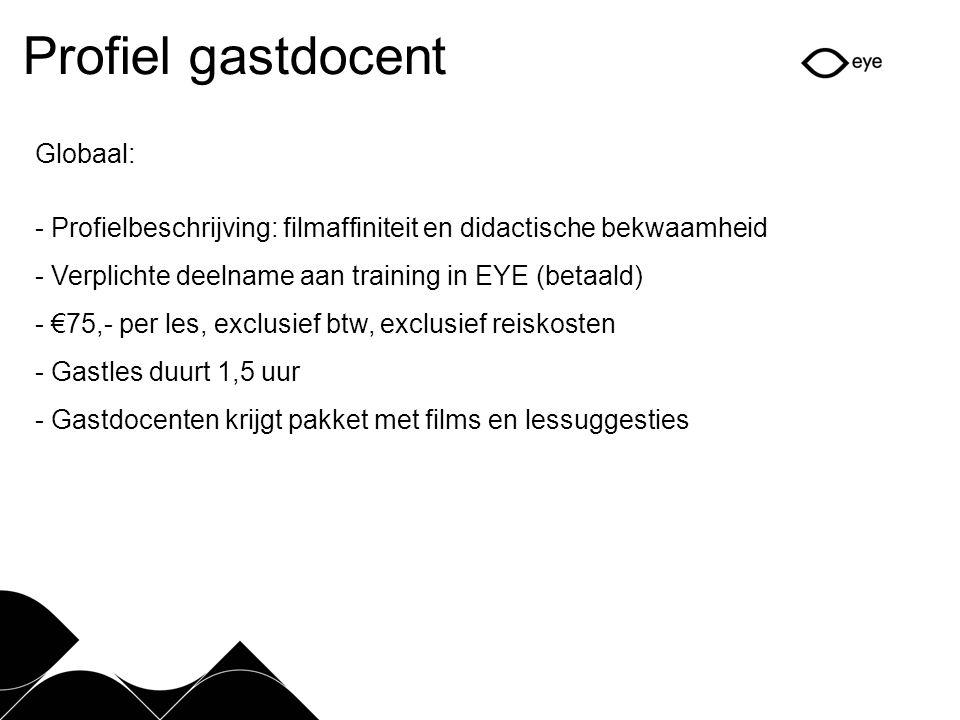 Profiel gastdocent Globaal: