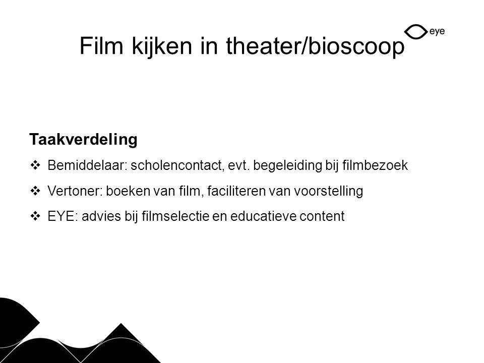 Film kijken in theater/bioscoop