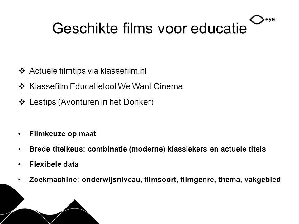 Geschikte films voor educatie