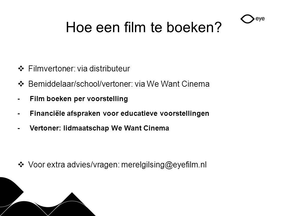 Hoe een film te boeken Filmvertoner: via distributeur