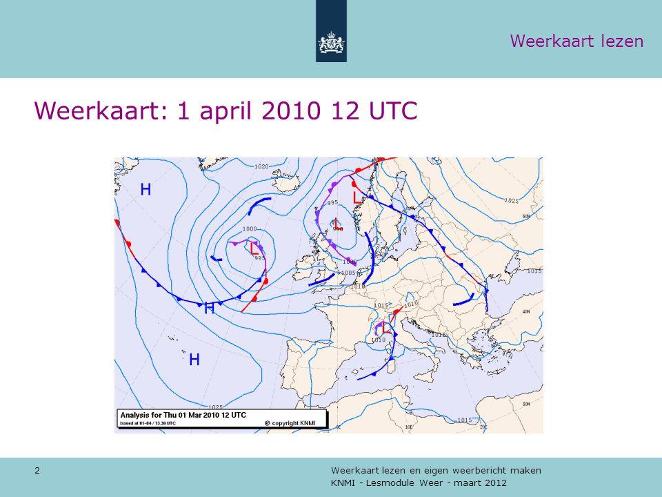 Weerkaart: 1 april 2010 12 UTC Weerkaart lezen