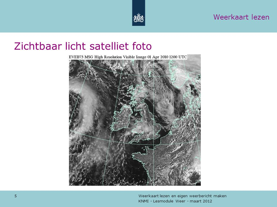 Zichtbaar licht satelliet foto