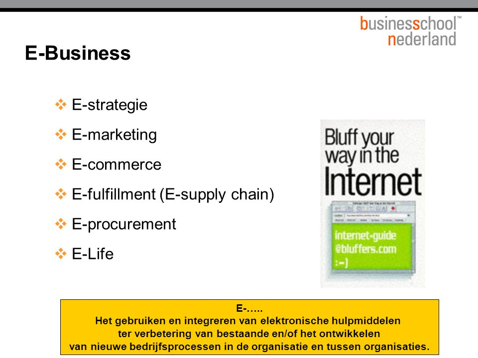 E-Business E-strategie E-marketing E-commerce