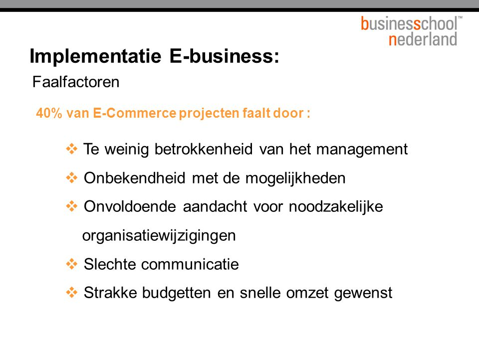 Implementatie E-business:
