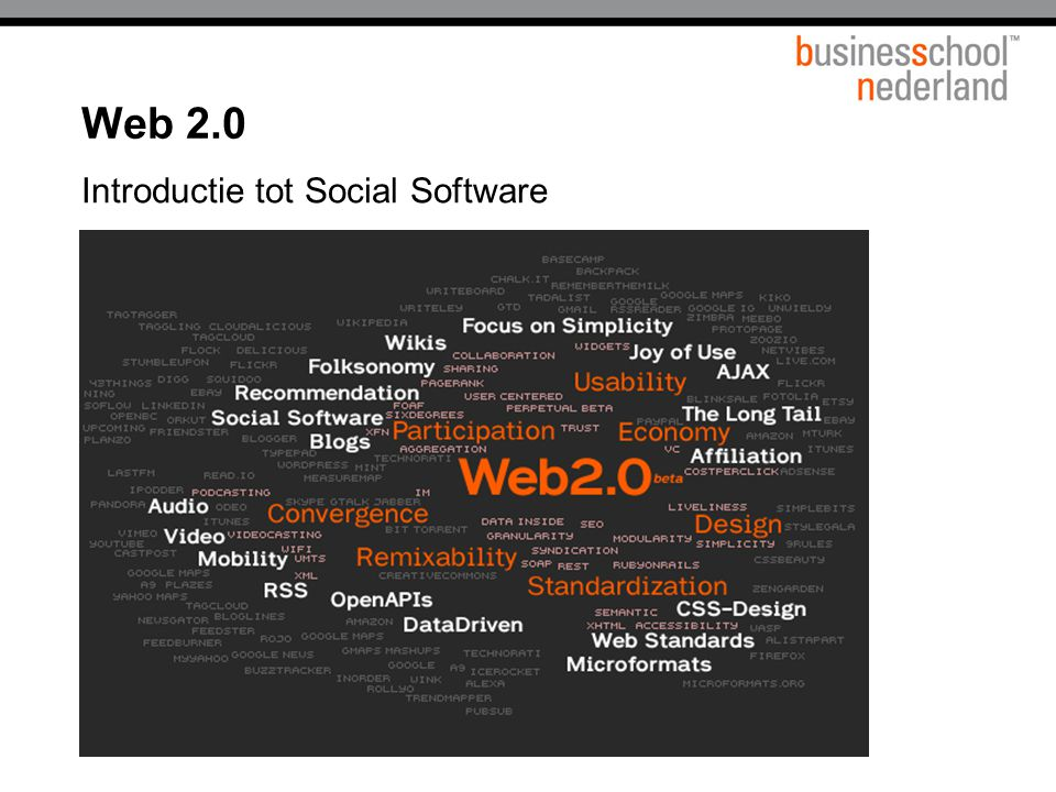 Web 2.0 Introductie tot Social Software Titel presentatie