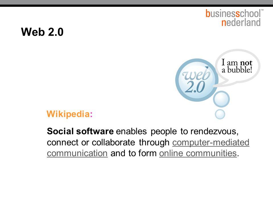 Titel presentatie Web 2.0. Wikipedia: