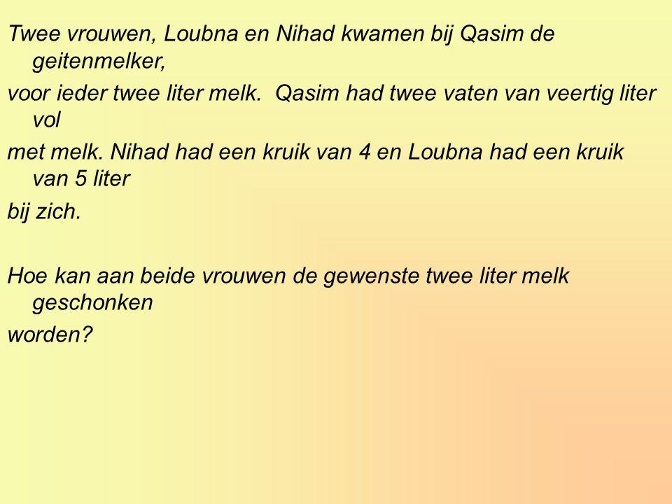 Twee vrouwen, Loubna en Nihad kwamen bij Qasim de geitenmelker,