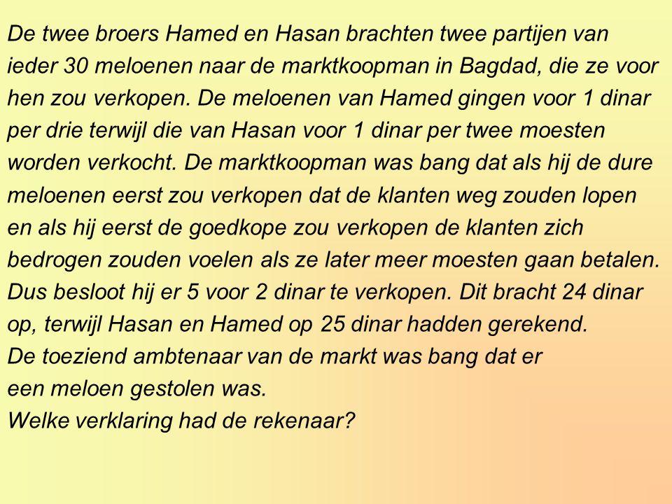 De twee broers Hamed en Hasan brachten twee partijen van