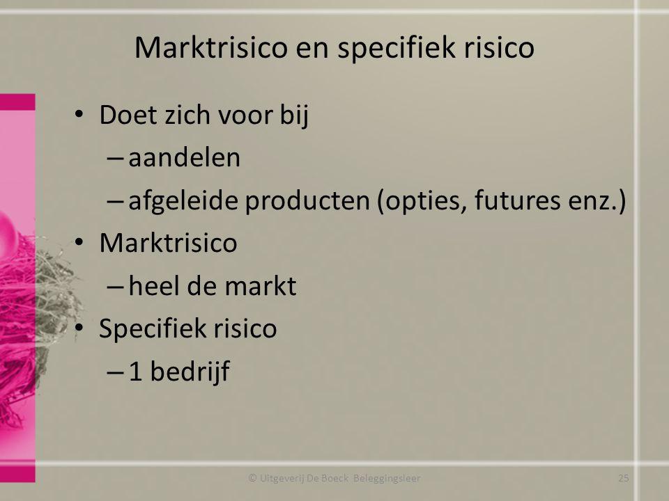 Marktrisico en specifiek risico