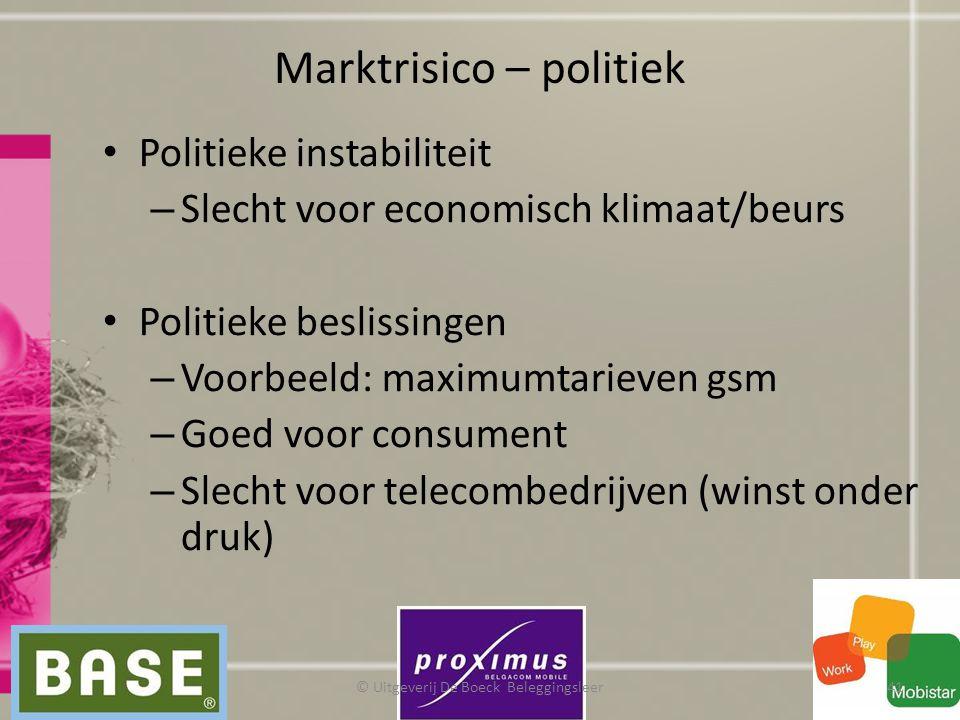 Marktrisico – politiek